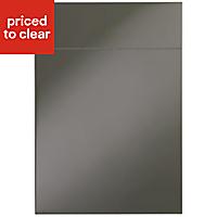 IT Kitchens Santini Gloss Anthracite Slab Drawerline door & drawer front, (W)500mm