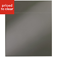IT Kitchens Santini Gloss Anthracite Slab Drawerline door & drawer front, (W)600mm