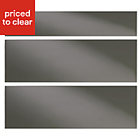 IT Kitchens Santini Gloss Anthracite Slab Drawer front (W)800mm, Set of 3