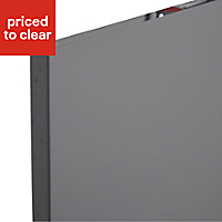 IT Kitchens Santini Gloss Anthracite Slab Fridge/Freezer Cabinet door (W)600mm