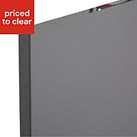 IT Kitchens Santini Gloss Anthracite Slab Larder Cabinet door (W)300mm, Set of 2