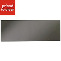 IT Kitchens Santini Gloss Anthracite Slab Bridging door & pan drawer front, (W)1000mm
