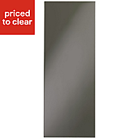 IT Kitchens Santini Gloss Anthracite Slab Wall end panel (H)720mm (W)290mm