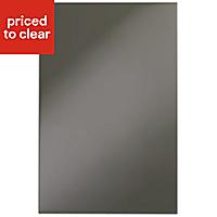 IT Kitchens Santini Gloss Anthracite Slab Base end panel (H)720mm (W)570mm