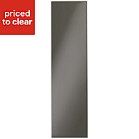 IT Kitchens Santini Gloss Anthracite Slab End panel (H)1920mm (W)570mm