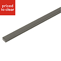 IT Kitchens Gloss Anthracite Gloss Anthracite Base corner post, (H)715mm (W)52mm