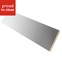 Cooke & Lewis Gloss Anthracite Straight Plinth, (L)2400mm
