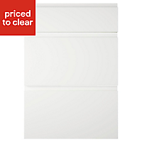 IT Kitchens Marletti Gloss White Drawer front (W)500mm, Set of 3