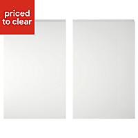 IT Kitchens Marletti Gloss White Larder Cabinet door (W)600mm, Set of 2