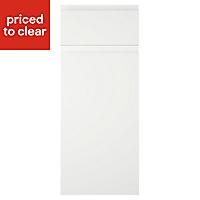 IT Kitchens Marletti Gloss White Drawerline door & drawer front, (W)300mm