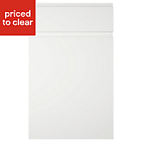 IT Kitchens Marletti Gloss White Drawerline door & drawer front, (W)500mm
