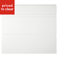 IT Kitchens Marletti Gloss White Drawer front (W)800mm, Set of 3