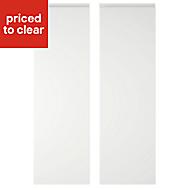 IT Kitchens Marletti Gloss White Larder Cabinet door (W)300mm, Set of 2