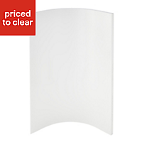 Cooke & Lewis Raffello High Gloss White Tall wall internal Cabinet door (W)250mm