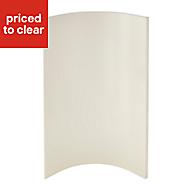 Cooke & Lewis Raffello High Gloss Cream Tall wall internal Cabinet door (W)250mm