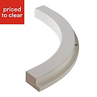 Cooke & Lewis High gloss White Curved External Cornice & pelmet