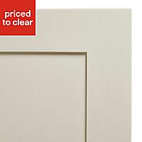 Cooke & Lewis Carisbrooke Ivory Integrated appliance Cabinet door (W)600mm