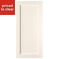 Cooke & Lewis Carisbrooke Ivory Fridge freezer door (W)600mm