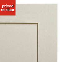 Cooke & Lewis Carisbrooke Ivory Fridge/Freezer Cabinet door (W)600mm