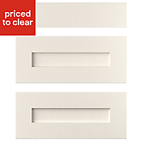 Cooke & Lewis Carisbrooke Ivory Drawer front (W)600mm, Set of 3