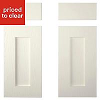 Cooke & Lewis Carisbrooke Ivory Corner base drawerline door (W)925mm, Set of 2