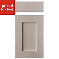 Cooke & Lewis Carisbrooke Taupe Drawerline door & drawer front, (W)400mm