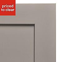 Cooke & Lewis Carisbrooke Taupe Fridge/Freezer Cabinet door (W)600mm