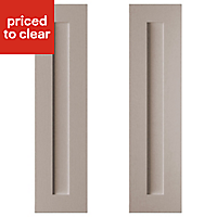 Cooke & Lewis Carisbrooke Taupe Larder Cabinet door (W)300mm, Set of 2