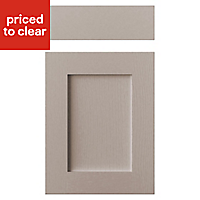 Cooke & Lewis Carisbrooke Taupe Drawerline door & drawer front, (W)450mm