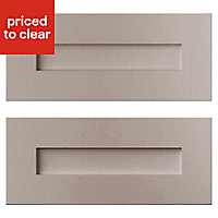 Cooke & Lewis Carisbrooke Taupe Drawer front (W)600mm, Set of 2