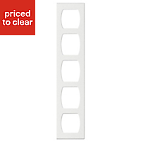 Cooke & Lewis Appleby High gloss White Tall Wine rack frame, (H)900mm (W)150mm