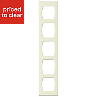 Cooke & Lewis Appleby Gloss Cream Tall Wine rack frame, (H)900mm (W)150mm