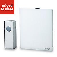 Blyss White Wireless Battery-powered Door chime kit DC3-UK-WH2