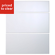 IT Kitchens Santini Gloss White Slab Drawer front (W)600mm, Set of 3