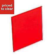 B&Q Red Tempered glass Splashback, (H)745mm (W)595mm (T)6mm