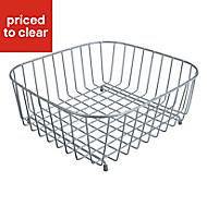 Cooke & Lewis Metal Silver effect Storage basket, (W)395mm