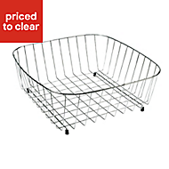 Cooke & Lewis Metal Stainless steel effect Storage basket, (W)375mm