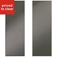 IT Kitchens Santini Gloss Anthracite Slab Tall corner Cabinet door (W)250mm, Set of 2