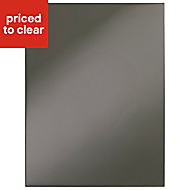IT Kitchens Santini Gloss Anthracite Slab Tall double oven housing Cabinet door (W)600mm