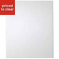 IT Kitchens Santini Gloss White Slab Tall Cabinet door (W)600mm