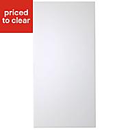 IT Kitchens Santini Gloss White Slab Fridge/Freezer Cabinet door (W)600mm