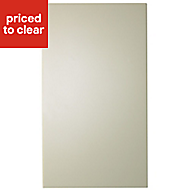 IT Kitchens Santini Gloss Cream Slab Tall Cabinet door (W)400mm