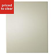 IT Kitchens Santini Gloss Cream Slab Tall Cabinet door (W)600mm