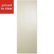 IT Kitchens Gloss Cream Slab Tall Clad on wall panel (H)970mm (W)385mm