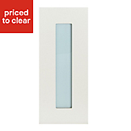 IT Kitchens Stonefield Ivory Classic Tall glazed Cabinet door (W)300mm