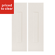 IT Kitchens Stonefield Ivory Classic Tall corner Cabinet door (W)250mm, Set of 2