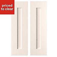 Cooke & Lewis Carisbrooke Ivory Framed Tall corner doors (W)268mm, Set of 2