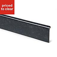 B&Q Lima Black Laminate Upstand (L)3000mm