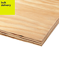 Smooth Softwood Plywood Board (L)2.44m (W)1.22m (T)18mm