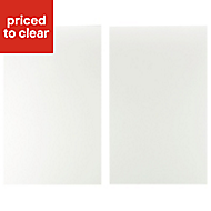 IT Kitchens Sandford Ivory Style Slab Larder Cabinet door (W)600mm, Set of 2